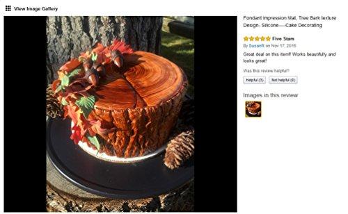 Fondant Impression Mat, Tree Bark Texture Design- Silicone-Cake Decorating Supplies for Cupcake Wedding Cake Decoration
