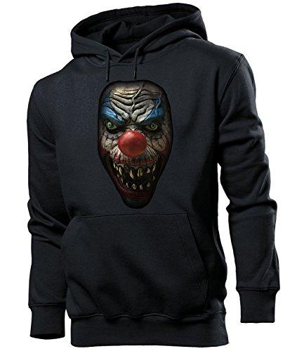 Golebros Halloween Killer Clown 5959 Kostüm Herren Männer Kapuzen Pulli Grusel Deko Accessoires Geschenk Süßes oder Saures SüßigkeitenIdeen Hut Fledermaus