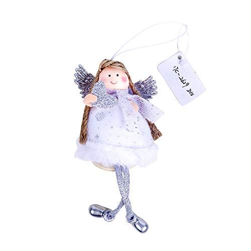 De engel van Kerstmis pop opknoping kerstfeest versiering window open haard deur wandkleed decoratie