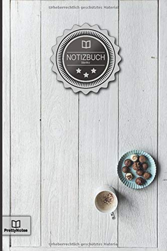 """Notizbuch: """"Vintage Kaffee und Pralinen • 100+ Seiten, liniert, Soft Cover, Inhaltsverzeichnis • Original PrettyNotes Blanko Notizbuch • Perfekt als ... Hausaufgabenheft, Schulheft, Notizheft"""