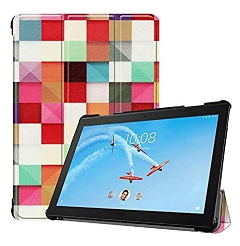 YNLRY Tablet Cases for Lenovo Tab P10 10.1 Inches, Owl Butterfly Flower Dandelion Eiffel Tower Design Smart Tablet Case Trifold Stand, Model TB-X705F/X705L (Color : 4)