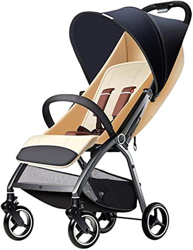 Cochecito de bebé ligero Cochecito puede sentarse y mentir, plegable paraguas carro de bebé ultraligero portátil en el avión carro de bebé (color: azul)