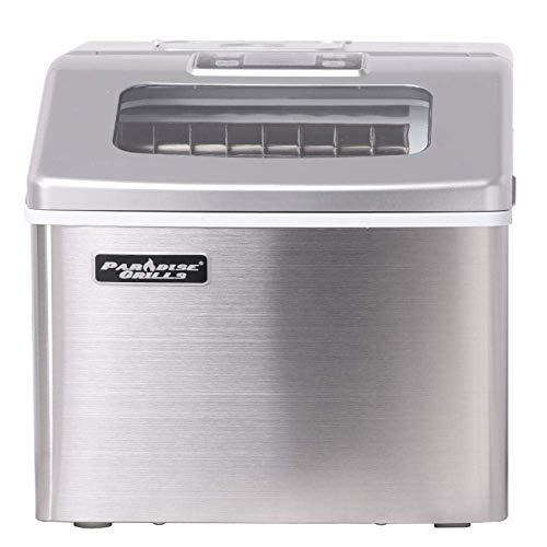 FOOING Máquina de hacer hielo cuadrada Encimera de trabajo lista en 13 minutos 24 Máquina de hielo grande con pala para hielo y canasta Fabricadores de hielo con pantalla LED para el hogar Cocina