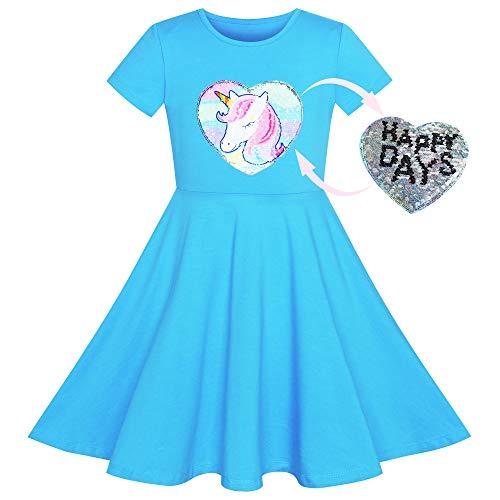 Soligt mode flickor klänning uggla glass fjäril paljett vardagsklänning ålder 7-14 år