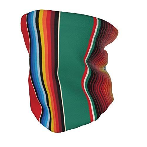 ZVEZVI Alfombra mexicana Serape Stripe Art Niños Niñas Mascarilla juvenil Bufanda Calentador...