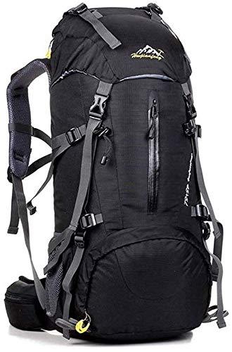 Mochila de senderismo para exteriores, 50 L, ergonómica, impermeable, para viajes,...
