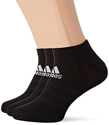 adidas LIGHT LOW 3PP Socks, Unisex adulto, Black/Black/Black, M
