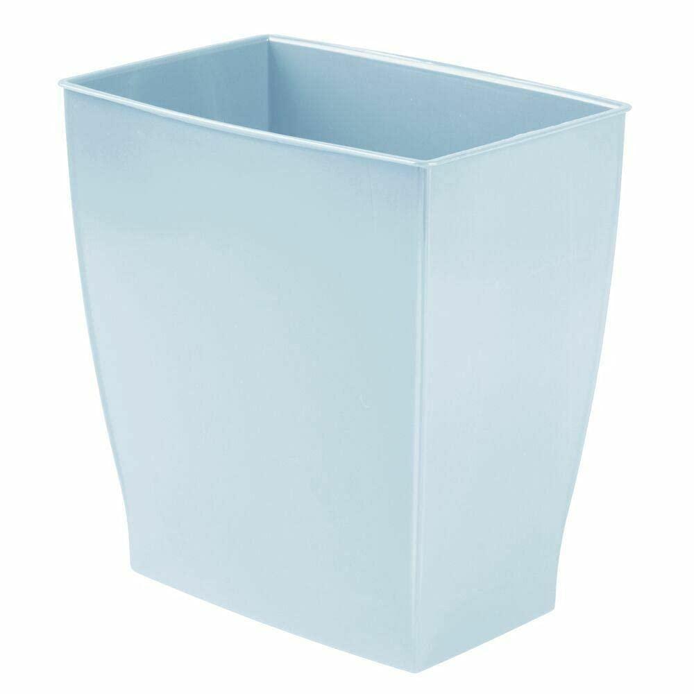 Plastic Rectangular Trash Can Excellent Fashionable Wastebasket Wastebask - Blue Light