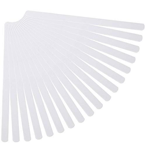 KANOSON 18Pieces Non-Slip Strip Stickers, Anti Slip Adhesive Bath Stickers Clear Grip Strips, Bathtub Stickers Anti Slip Bath Stickers Safety Tape for Stairs, Bathroom, Shower Tray, 20mm * 380mm