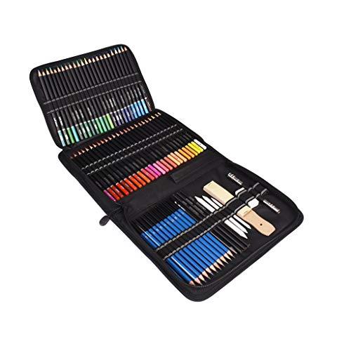 YWSZJ 95pcs Lápices de Colores de Aceite Set Sketch Soft Core Professional Art Supplies para Adultos Artista Dibujo Dibujo Coloración con Estuche portátil