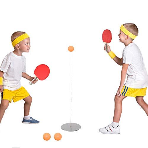 Juego de entrenador de tenis de mesa, entrenadores de tenis de mesa de interior con eje suave elástico, entrenador de tenis de mesa para niños adultos y principiantes, entrenamiento de tenis de mesa