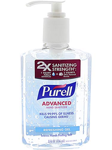 Purell Advanced Hand Sanitizer Refreshing Gel - 8 oz, Pack of 3