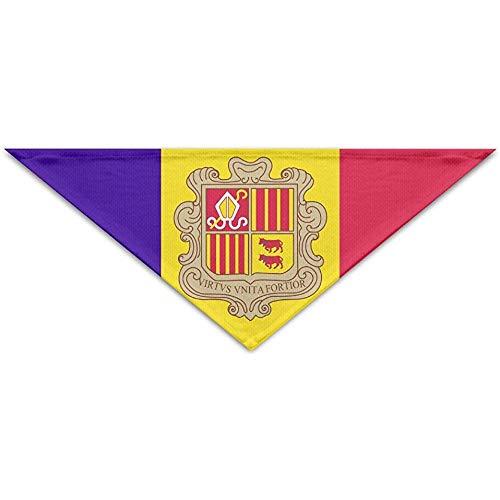 Emilde nationale vlag van Andorra huisdier sjaal hond kat bandana kragen driehoek halsdoek