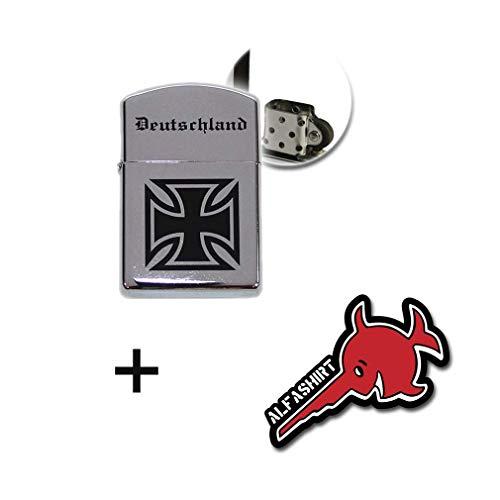 Copytec Deutschland Benzin Sturmfeuerzeug EK Bundeswehr Altdeutsch Armee #17289