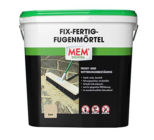 MEM Fix- Fertig- Fügenmörtel - 12,5 KG - Sand - Verhindert Unkrautbewuchs - witterungsbeständig - Komponentiger Pflaster - Ideal zur Verfügung von Natursteinpflaster - 30836013