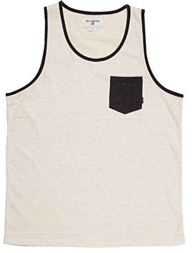 BILLABONG All Day Contrast TK T-Shirt Homme, Ecru, FR : M (Taille Fabricant : M)