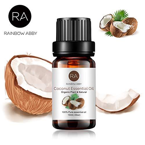 RAINBOW ABBY Kokos Ätherisches Öl, 100% Reines Organisches Natürliches Bio Aromatherapie Kokosöl Für Diffusor (10 Ml)