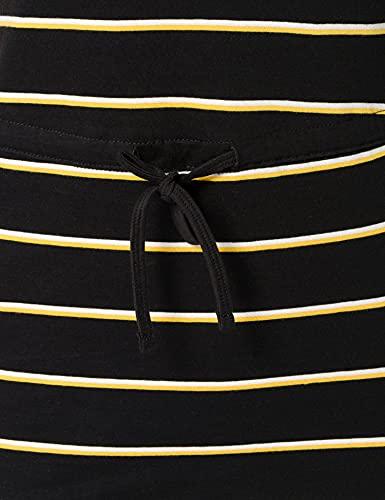 Only Onlmay S/s Dress Noos Vestido, Multicolor (Black Stripes: Double Yolk Yellow/Cl. Dancer), 42 (Talla del Fabricante: Large) para Mujer