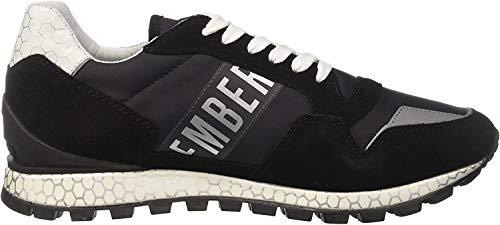 Bikkembergs FEND-ER, Sneaker Uomo, Nero (Black 2076), 41 EU
