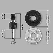 Baifeng 5 Piezas 6mm/10mm Taladro Eléctrico Amoladora Angular Biela para Disco de Corte Pulido Rueda Adaptador - 6mm