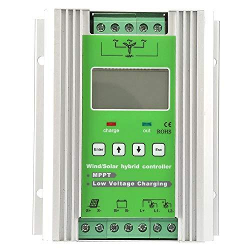 Wind Solar Hybrid-Laderegler, 12 / 24V MPPT Solarladeregler, Photovoltaik 300W Wind 300W / 400W / 500W / 600W, LCD-Display, integrierter Schutz(300W)