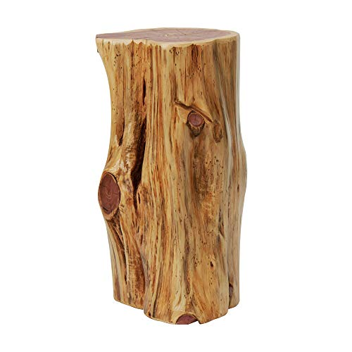 Knaughty Log Co Tree Stump Side Table or Stool | We Plant 8 Trees for Every 1 We Use | 12' Wide X 20' Tall