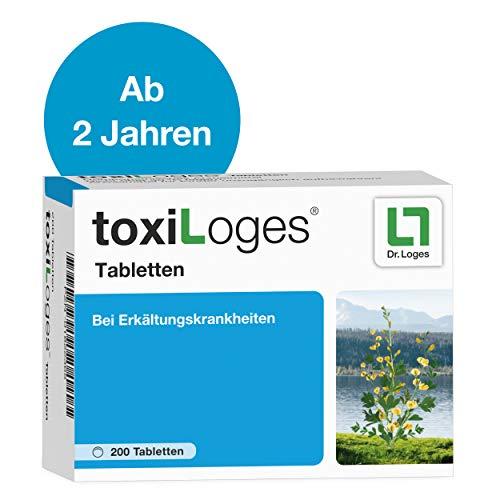 toxiLoges® Tabletten 200 Tabletten - Multikomplex für alle Phasen der Erkältung - Homöopathisches Arzneimittel für Kinder ab 2 Jahre bei den häufigsten Beschwerden wie Halsschmerzen, Schnupfen, Husten