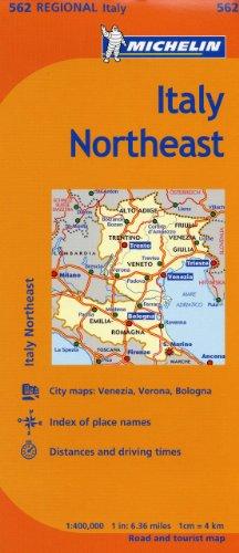 Michelin Italy: Northeast Map 562 (Maps/Regional (Michelin))