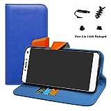 LFDZ Alcatel 3v Coque, PU Cuir Portefeuille Fonction Housse Debout Coque Étui Couverture pour Alcatel 3v Smartphone (4 en 1...