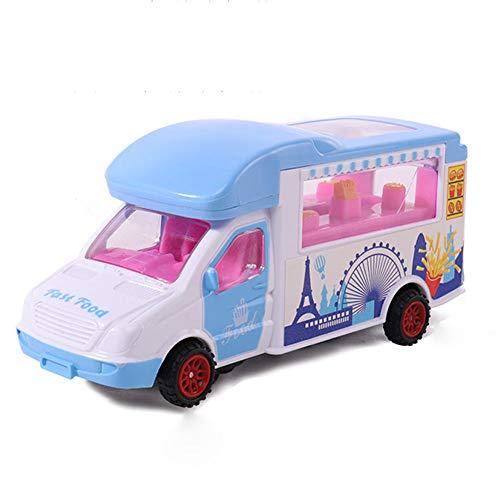 DishyKooker Kinder Musik Beleuchtung universal Rad elektrische spielzeugauto kinderspielzeug Blau Komfortables Leben
