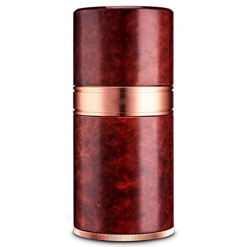 Caja de cigarrillo portátil, tubo de cigarro portátil de viaje, humectante de metal para cigarrillos, humectador, tubo humectante de cigarrillos, duradero