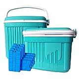 ToCi–Nevera portátil grande y pequeño, 2cajas de refrigeración pasiva...