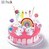 Cake Topper Unicornio, Decoración De Pastel De Unicornio, Decoracion Tarta Unicornio, Unicornio Cloud Rainbow para Cumpleaños Decoración de La Torta del Banquete de Boda (11Piezas)