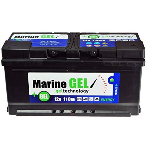 Batería de gel de 110 Ah para barcos, 12 V, batería de arranque.