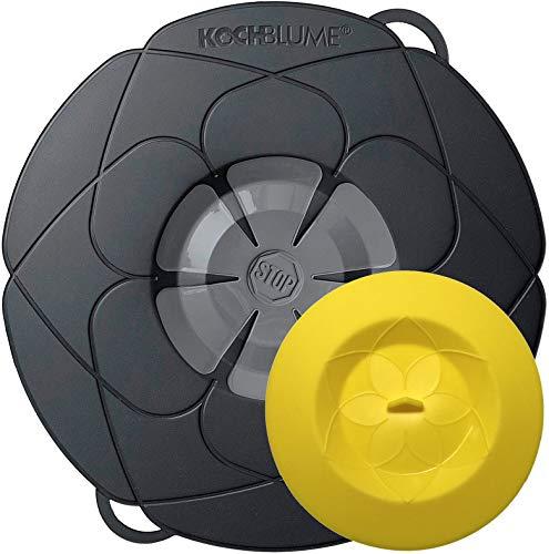 Silicona Kochblume Tapa Flor XS 22 cm Negro