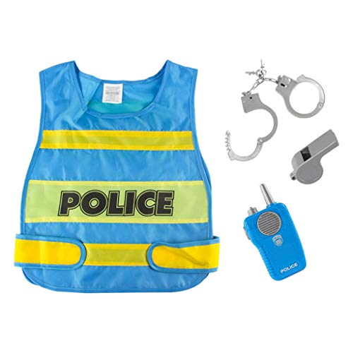 perfeclan 1 Juego de disfraces de polica para nios, juego de rol, decoracin de fiesta de disfraces de Halloween para nios de 3 a 7 aos