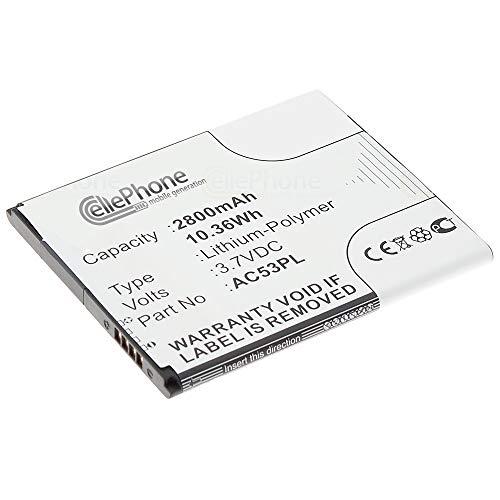 cellePhone Akku Li-Polymer kompatibel mit Archos 53 Platinum (Ersatz für AC53PL)
