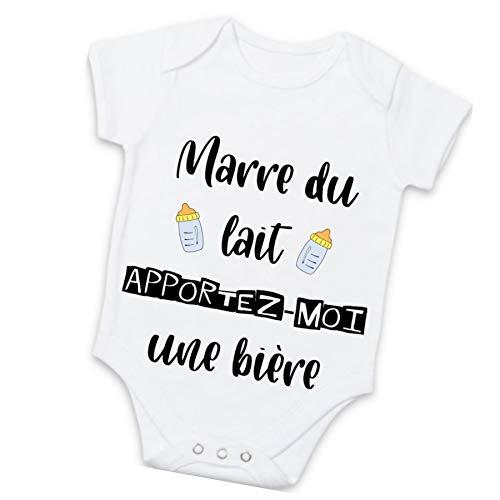 Body bébé personnalisé -'Marre du lait, apportez-moi une bière' - Cadeau original