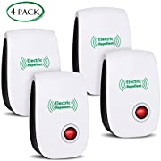 VEPOWER 2019 Upgraded Ultrasonic Electronic Repellent, Pest Control Repeller Plug in Indoor Usage, Best Pest Controller to Bugs, Insects Mice, Ants, Mosquitoes, Spiders, Rodents and Roach(4 Packs)