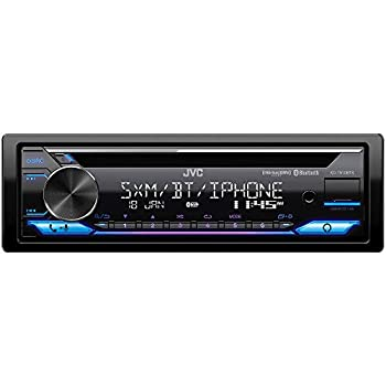 JVC KD-T910BTS Car Stereo with Bluetooth Front USB AUX Amazon Alexa SirusXM Radio Ready Hi-Power Amplifier