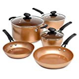 Ecolution Titanium Ceramic Easy Clean Endure Nonstick Cookware Silicone Stay Cool Handle, 8-Piece...