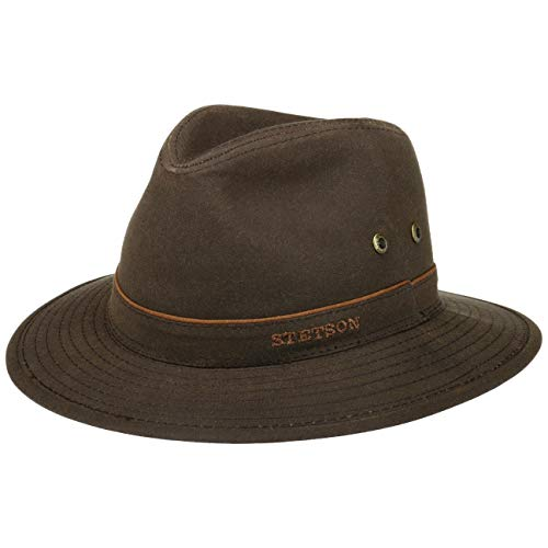 Stetson Ava Waxed Cotton Waterproof Hat (XL (60-61cm)) Olive Green
