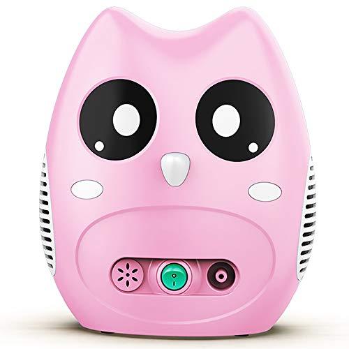 Owl Designed air Compressor Inhaler, Electric Inhaler for atomizing Medicine, Household Inhaler for Adults and Children (Pink)