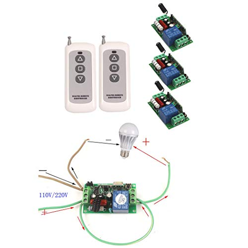 Amazing Deal Wireless Switch 110V 220V 10A Remote Control Relay Module Receiver Switch Box (315MHz)