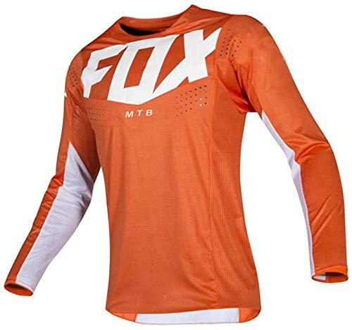 Camiseta de Bicicleta de montaña para Hombre de Manga Larga, Camiseta de Enduro de Bicicleta de montaña, Camisetas de Descenso para Hombre Camisetas de Bicicleta de montaña MTB Offroad XXL