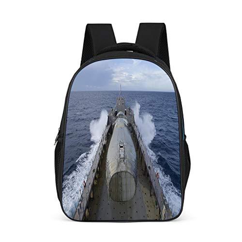 QVOOD Mochila escolar para niños, diseño de barco de guerra