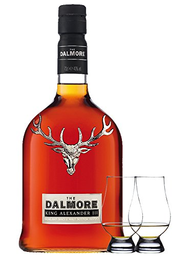 Dalmore 1263 King Alexander III Single Malt Whisky 0,7 Liter + 2 Glencairn Gläser