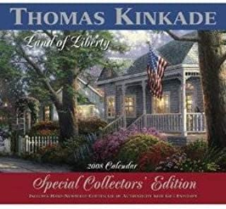 Thomas Kinkade Painter of Light 2008 WALL Calendar Special Collector's Edition