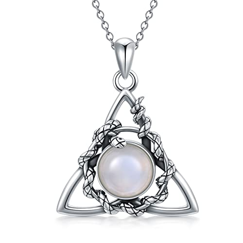 MBSUUH Snake Celtic Trinity Knot Necklace for Women Sterling Silver