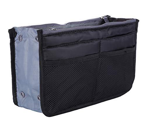 Lady Women Travel Insert Handbag Organizer Purse Large Liner Organizer Tidy Bag (13 Pockets Medium Size)